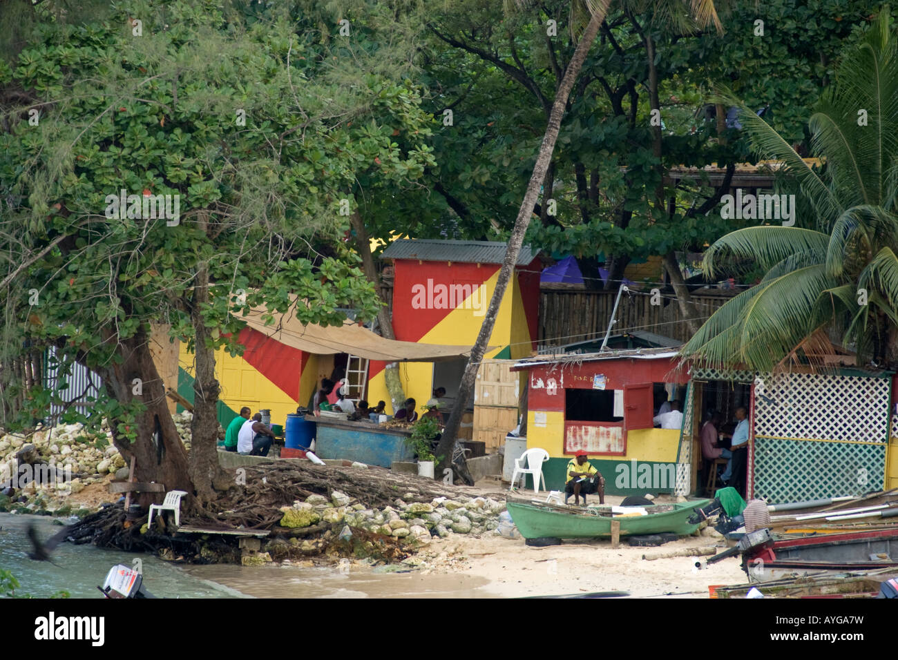 Jamaica Ochos Rios Slum Stock Photo