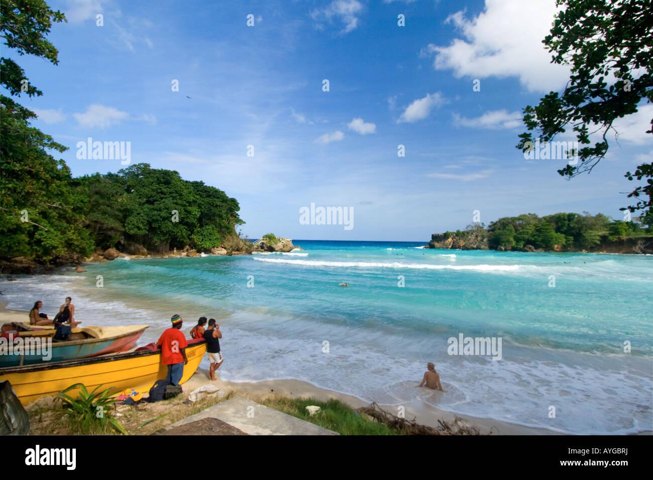 Jamaica Boston Bay Beach Stock Photo