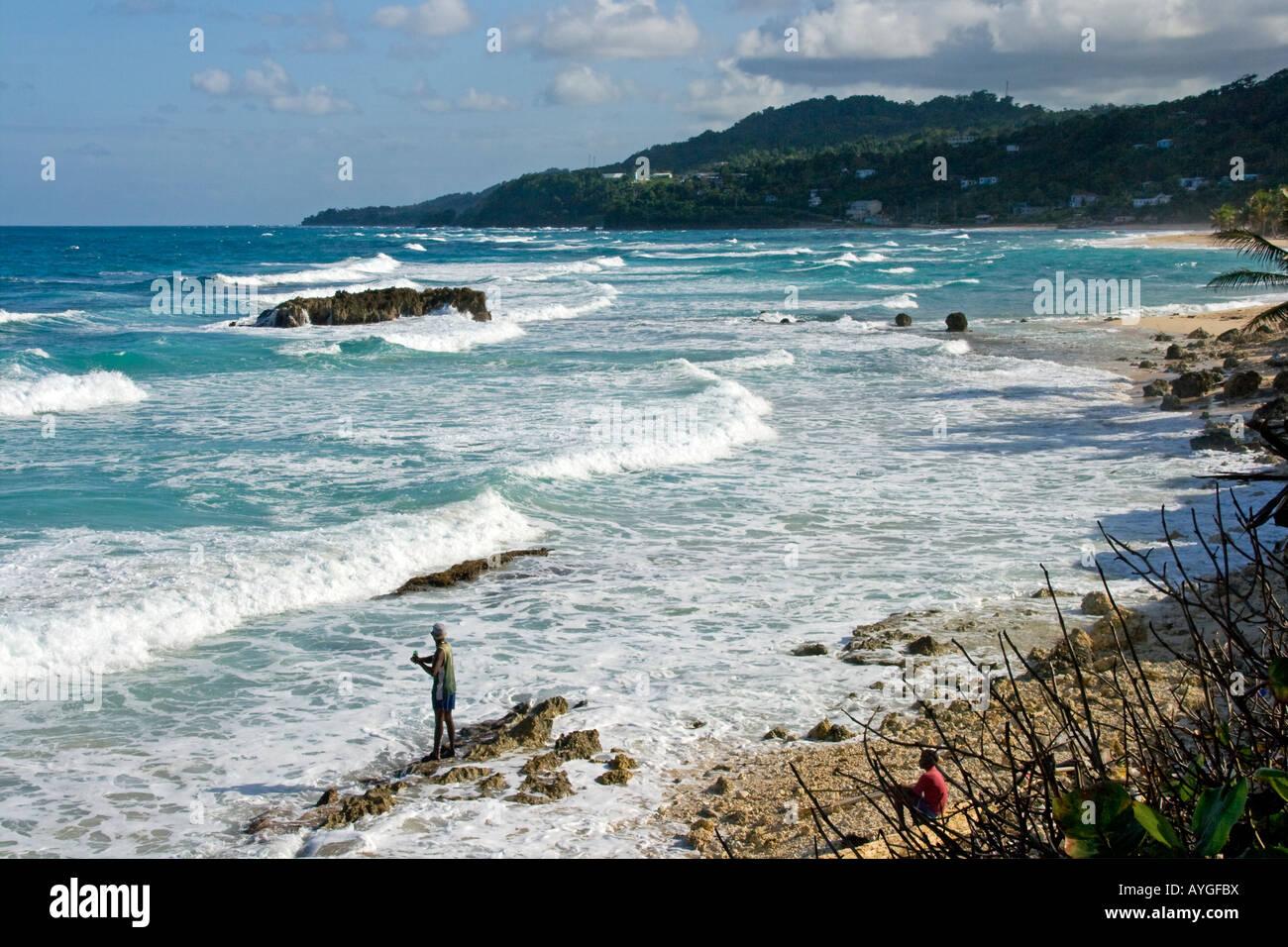 Jamaica Long bay at east coast Stock Photo