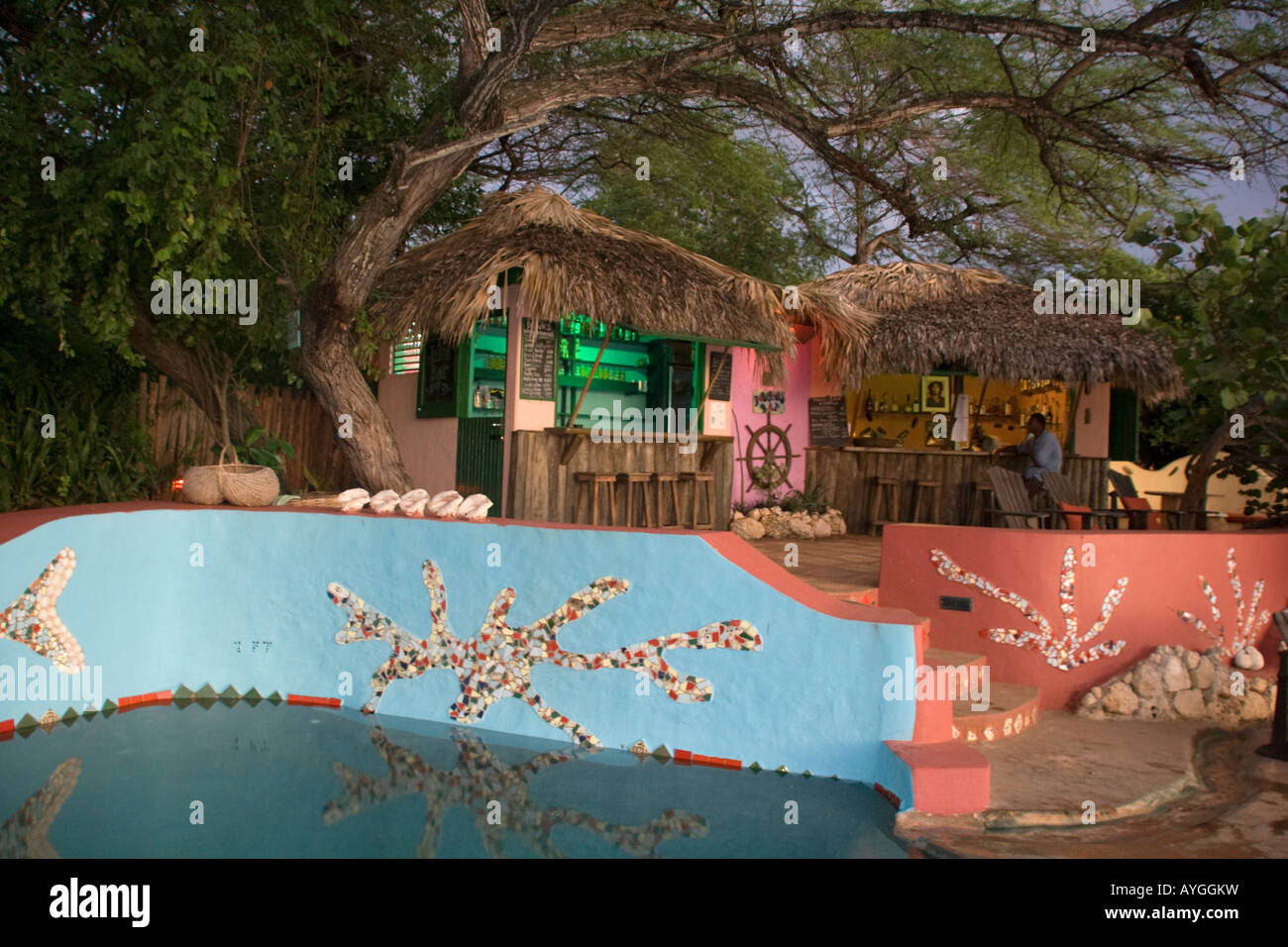 Jamaica Treasure beach Jakes boutique Resort Stock Photo