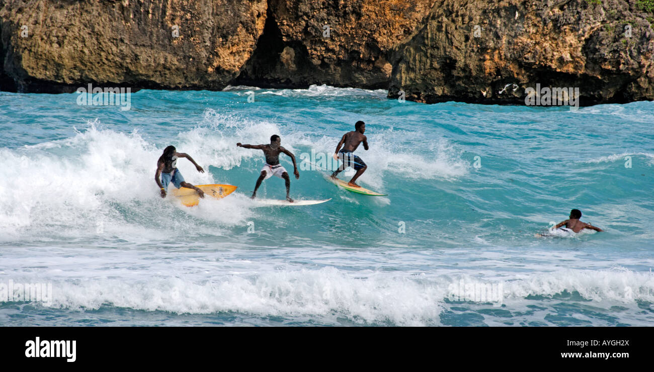 Jamaica Boston bay surfer Stock Photo