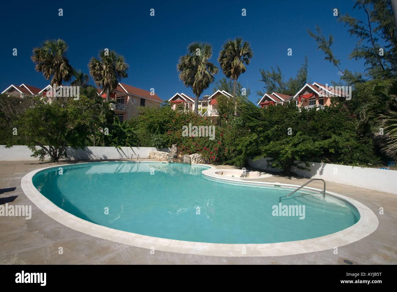 Jamaica Treasure beach Resort with Pool Stock Photo