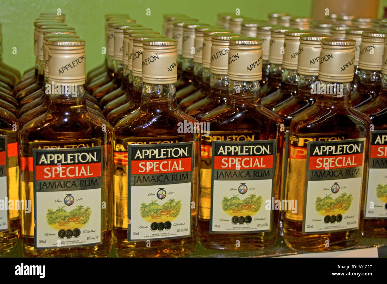 Jamaica Appleton Jamaica Rum factory district St Elisabeth Stock Photo