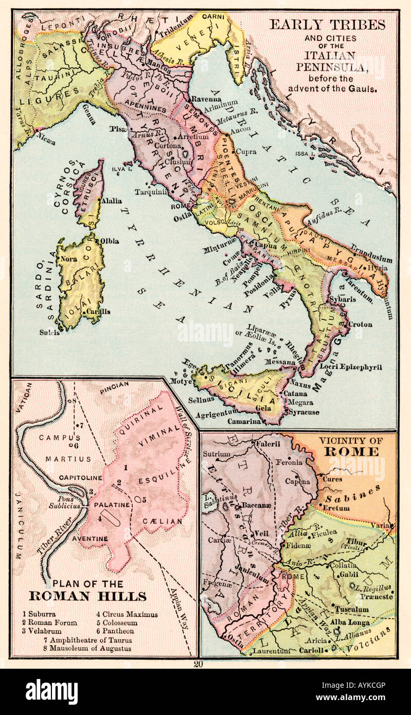 the history of the early italic tribes The dna samples from murlo and volterra are much more highly correlated to those of the eastern peoples than to those of the other inhabitants of [italy] the bundle of whipping rods around a double-bladed axe that became an emblem of authority for the romans, was almost certainly of etruscan origin.