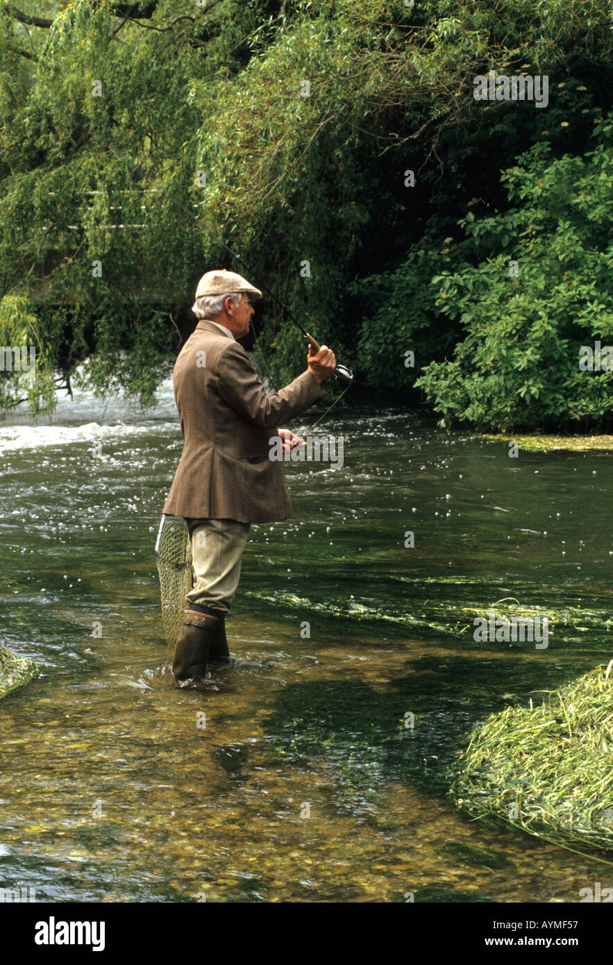Fly fishing on the river test hampshire southern england for Fly fishing supplies near me