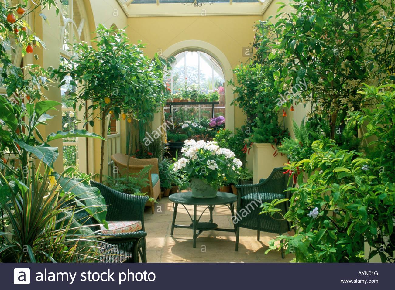 Chelsea fs 1997 design andrea parsons orangery garden room for Green garden rooms
