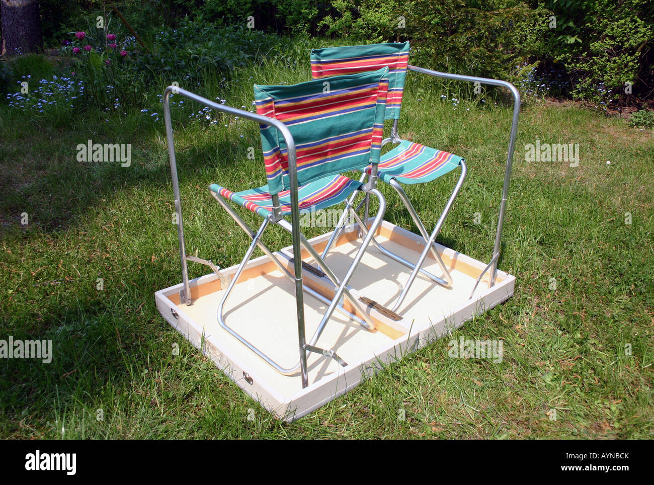 Leisure, Camping, Camping Seats (table, Two Camping Chairs ...