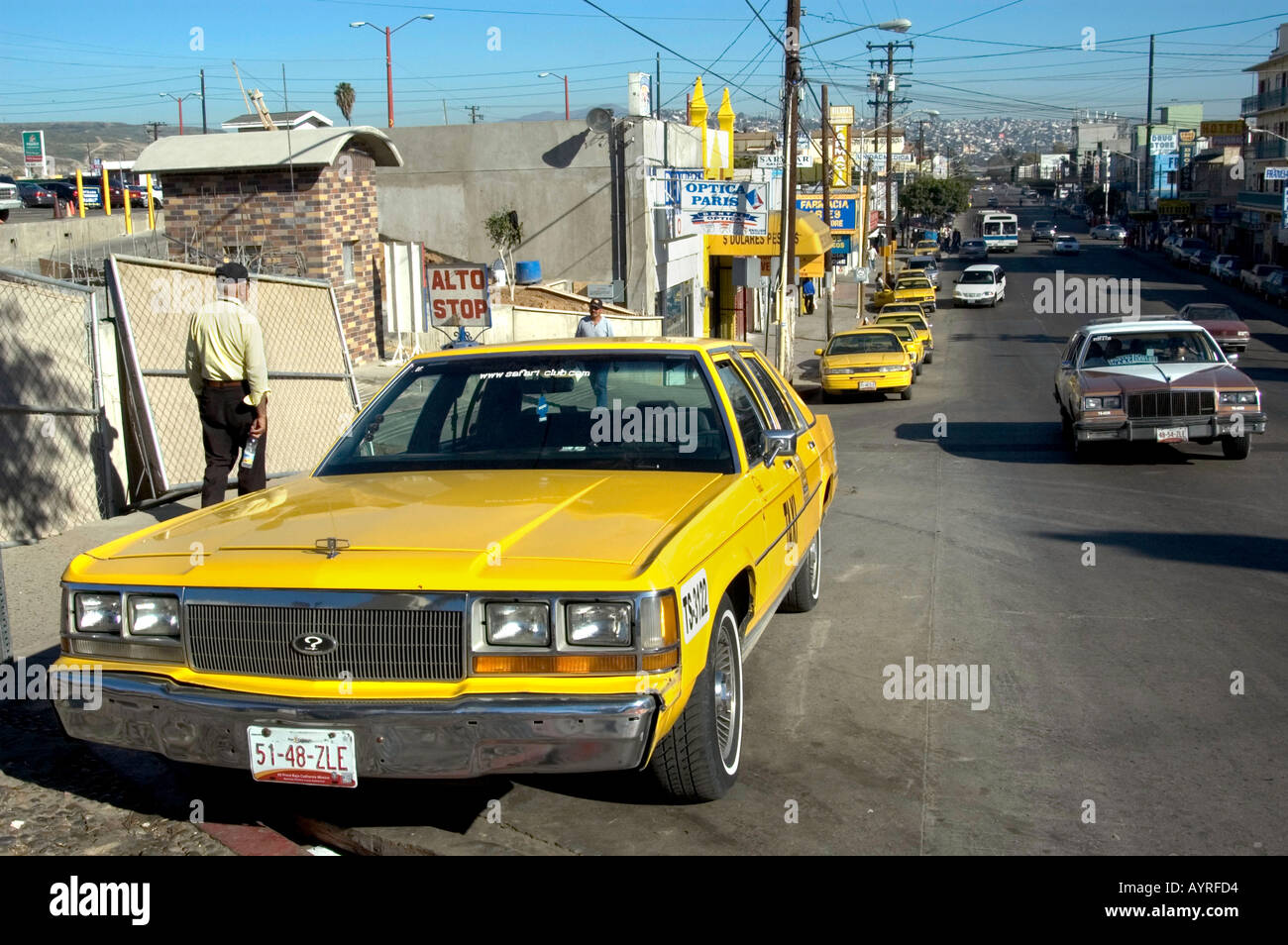 We Buy Used Cars >> OLD AMERICAN CARS USED AS TAXICABS IN THE CENTER OF TIJUANA MEXICO Stock Photo, Royalty Free ...
