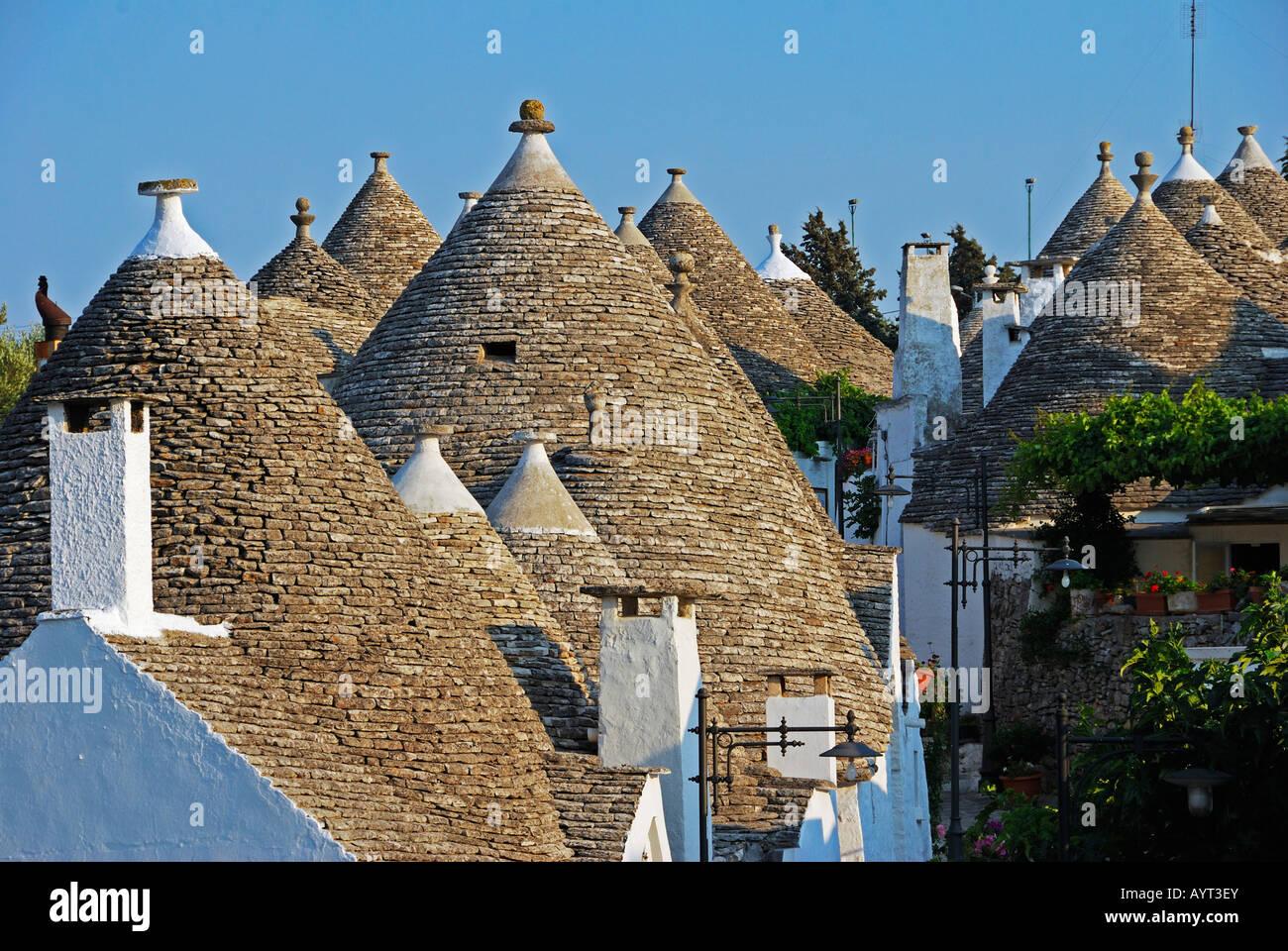 Trulli round houses of Alberobello UNESCO World Heritage Site Stock Photo