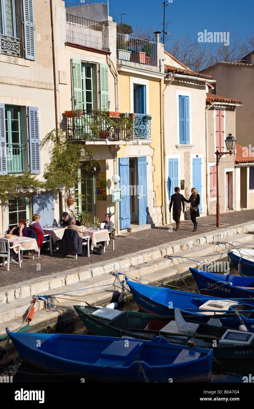 The district miroir aux oiseaux martigues france stock for Miroir aux oiseaux