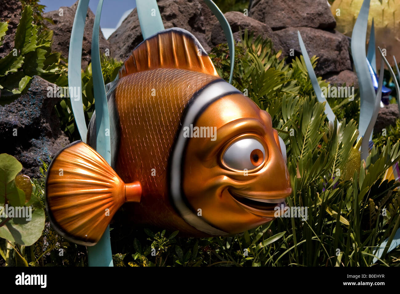 nemo the clown fish from the seas with nemo attraction at walt stock photo royalty free image. Black Bedroom Furniture Sets. Home Design Ideas