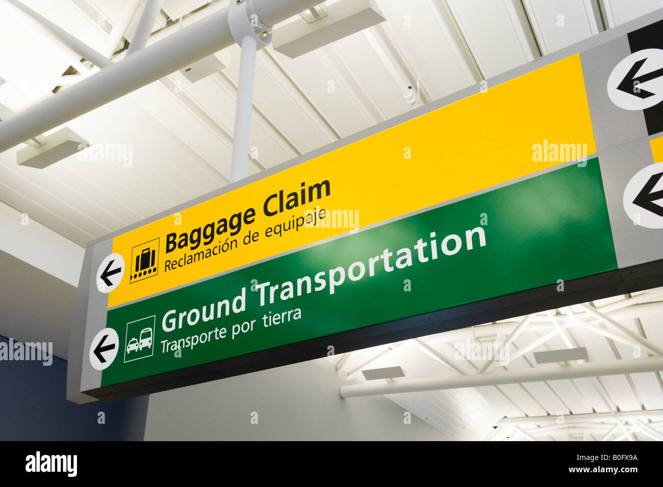 Signs For Baggage Reclaim Ground Transportation In