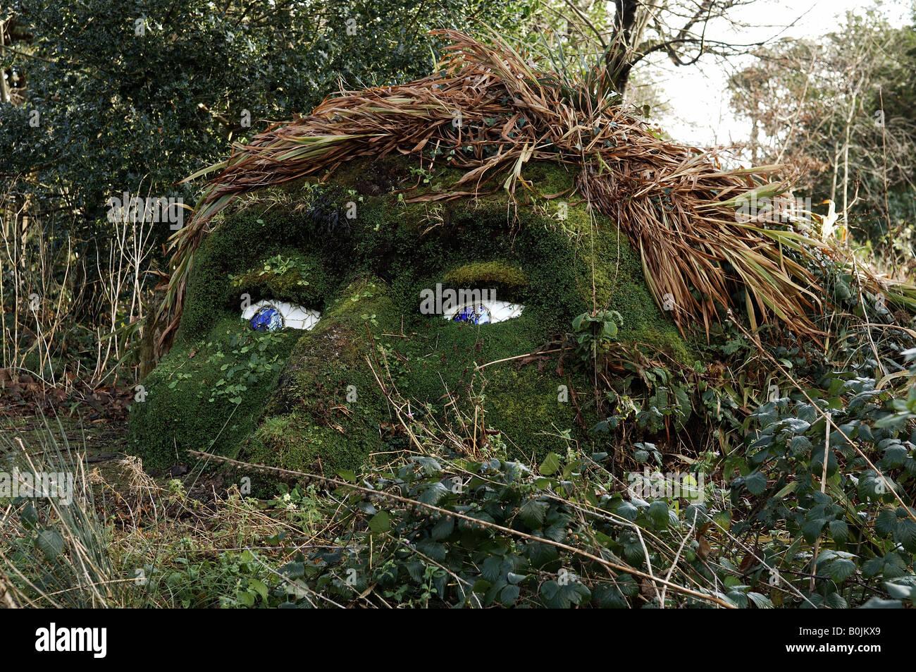 Mudhead man in Lost Gardens of Heligan Stock Photo ...