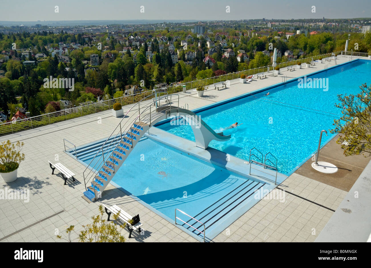 Opel Bad Swimming Pool Above The Villa District Of Wiesbaden Stock Photo Royalty Free Image