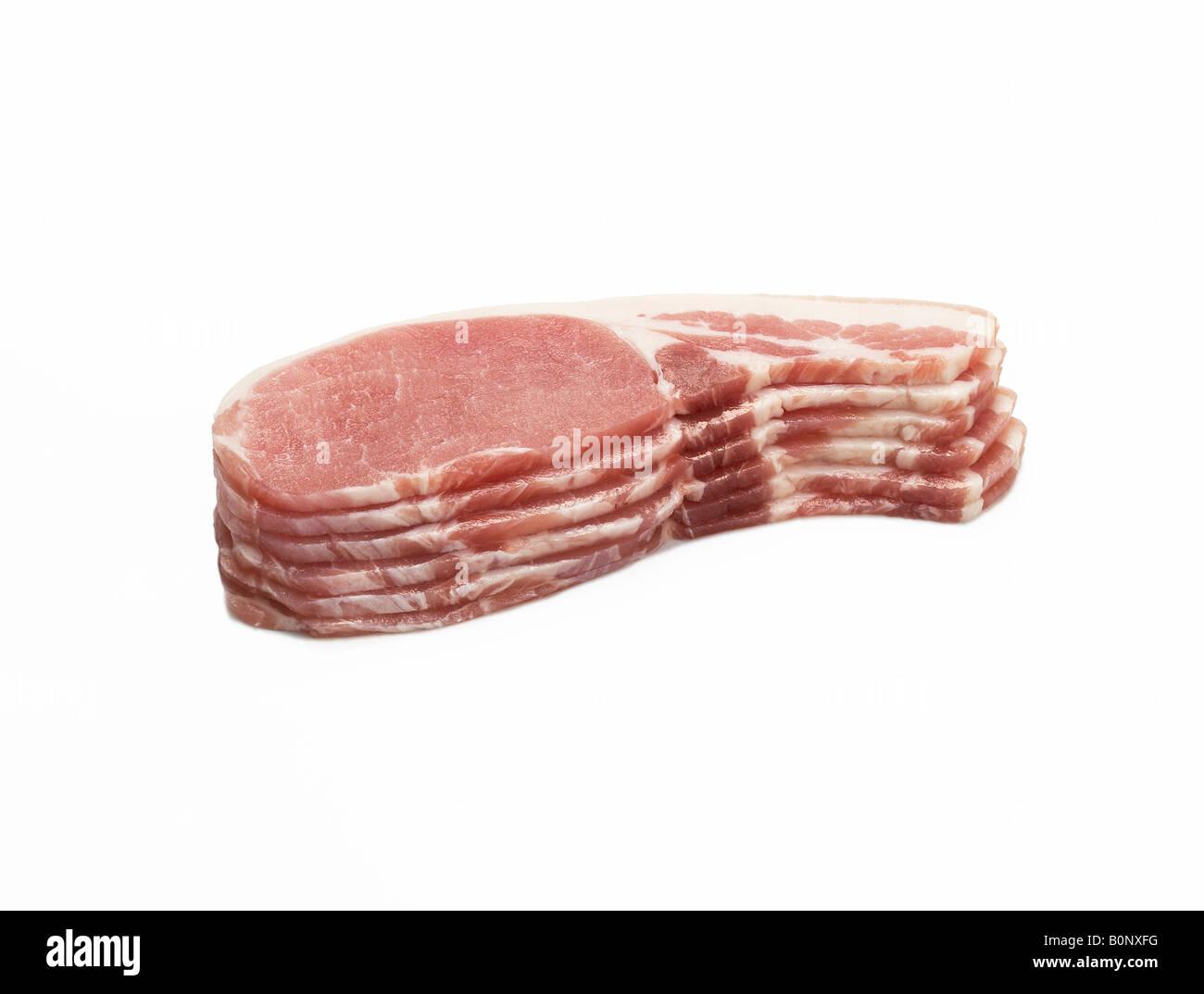 Sliced Back Bacon Stockfoto Lizenzfreies Bild 17692180