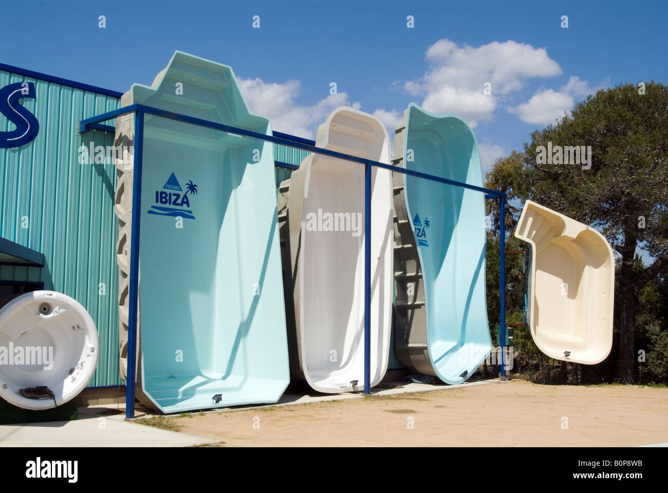 Swimming Pool Pools Home House Fibreglass Moulded Swiming At For Sale Stock Photo Royalty Free