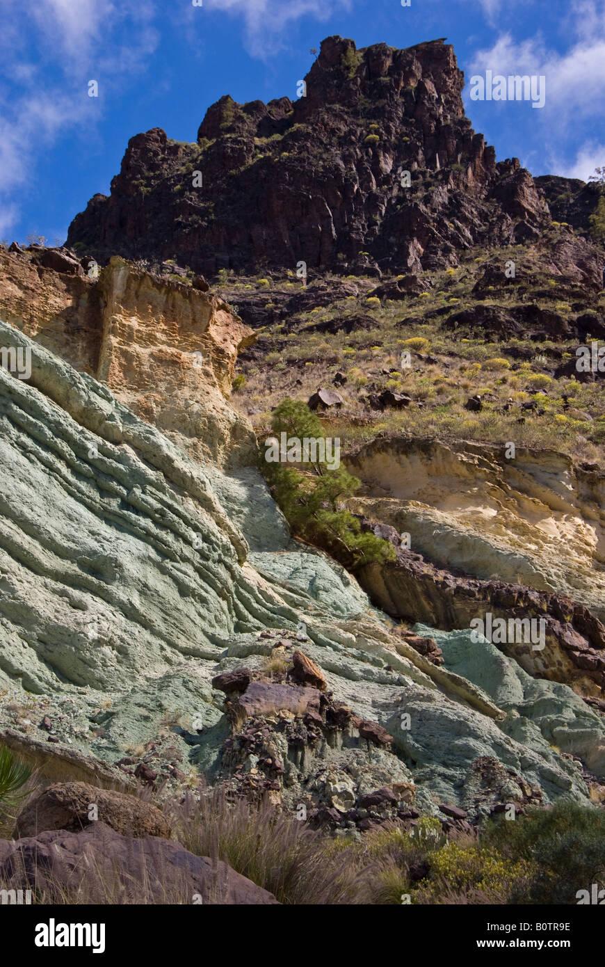 Gran canaria coloured rocks of the fuente de los for Fuente de los azulejos