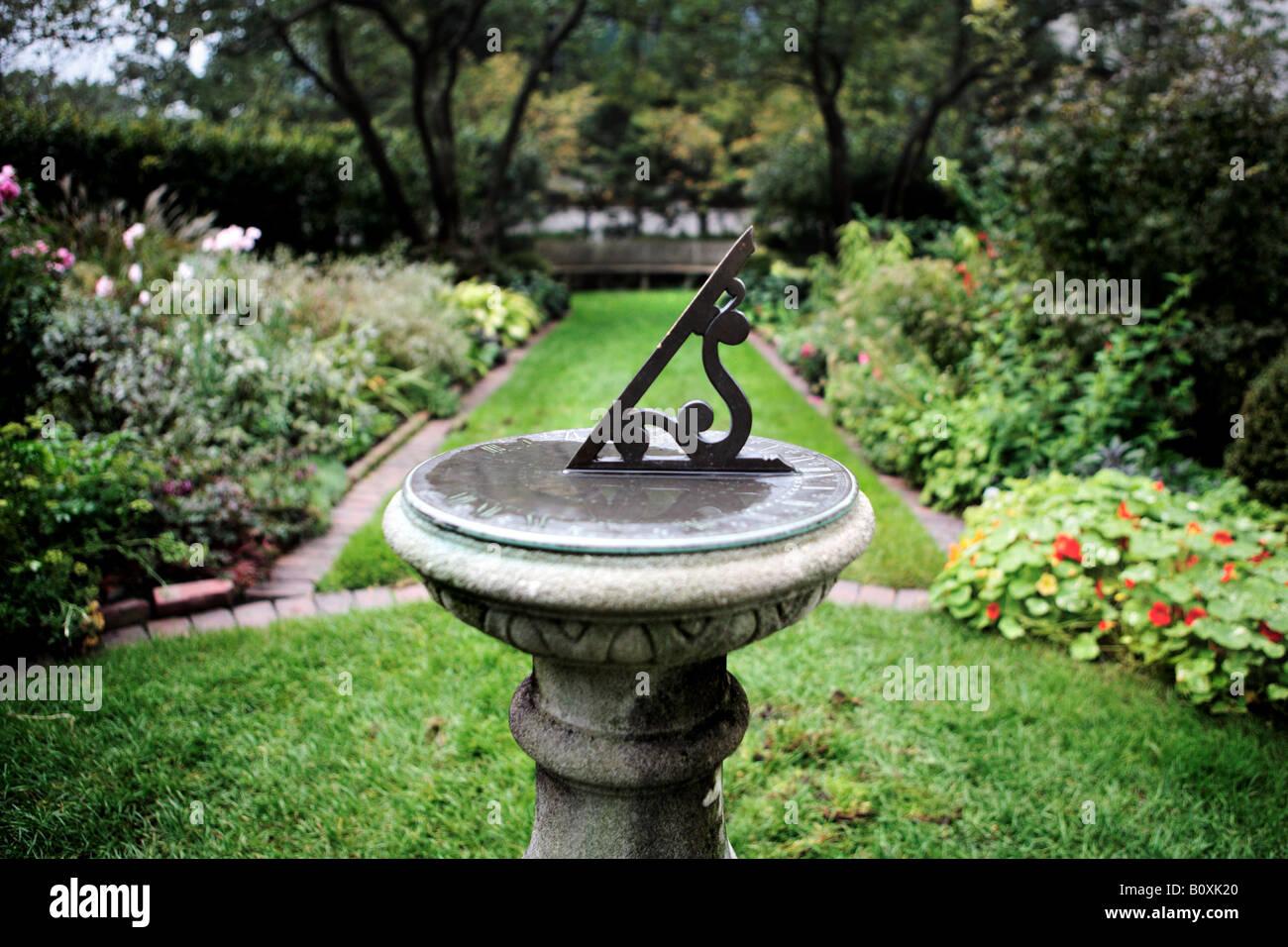 Sundial In Shakespeare Garden Designed By Jens Jensen And