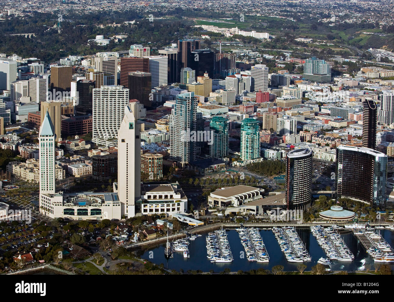 aerial above San Diego California Stock Photo