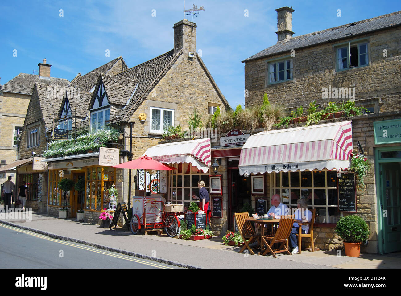 Bourton on the Water United Kingdom  city photo : High Street, Bourton on the water, Cotswolds, Gloucestershire Stock ...