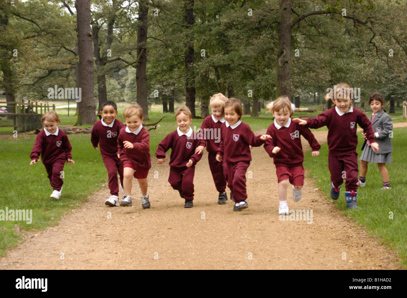 children running in school - photo #25