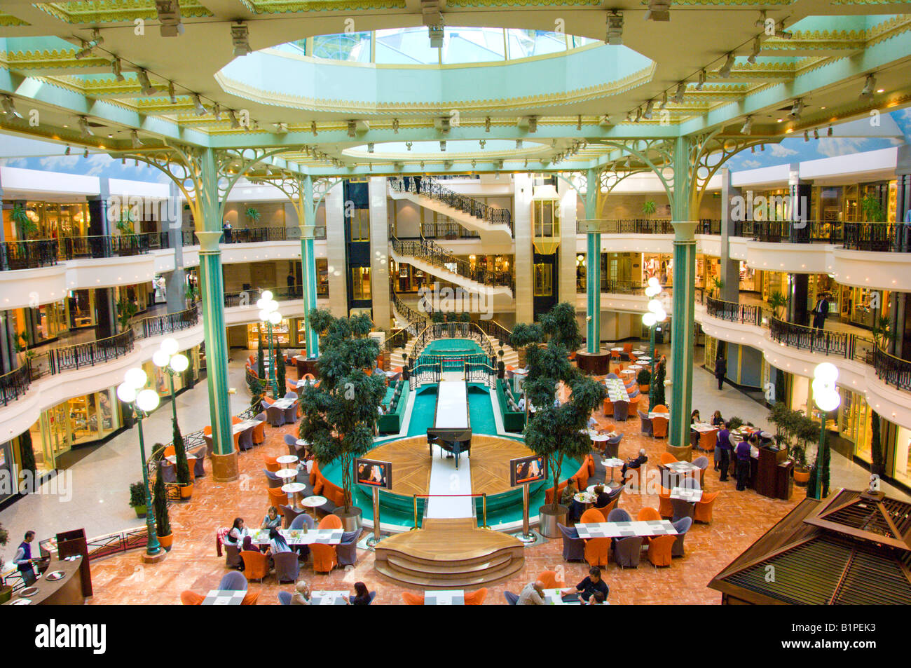 The interior first residence shopping mall at the four for Shopping in cairo