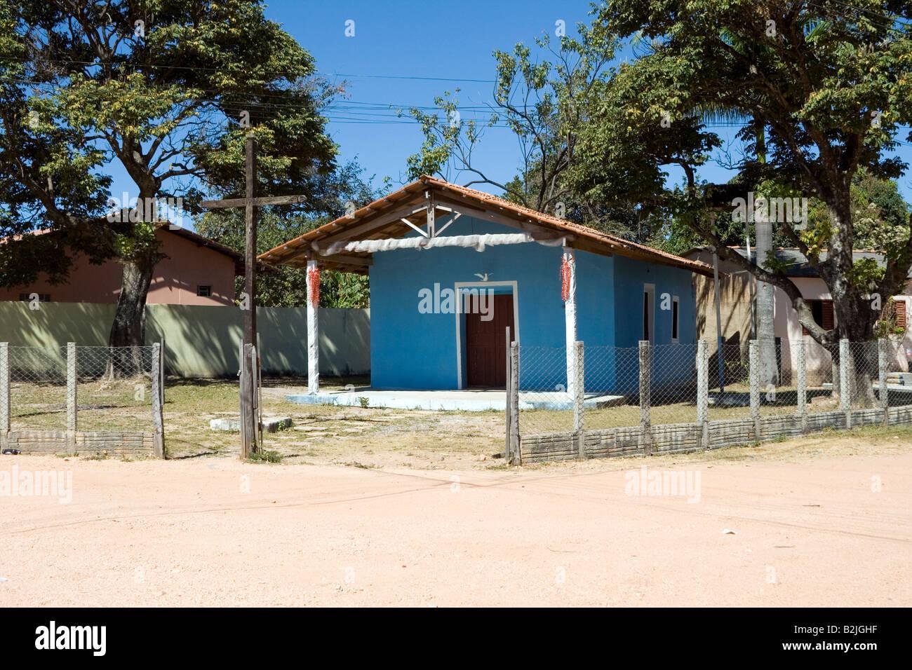 Povoado de São Jorge, Chapada dos Veadeiros, Holy Spirit Church, Goiás, Brazil, South America Stock Photo