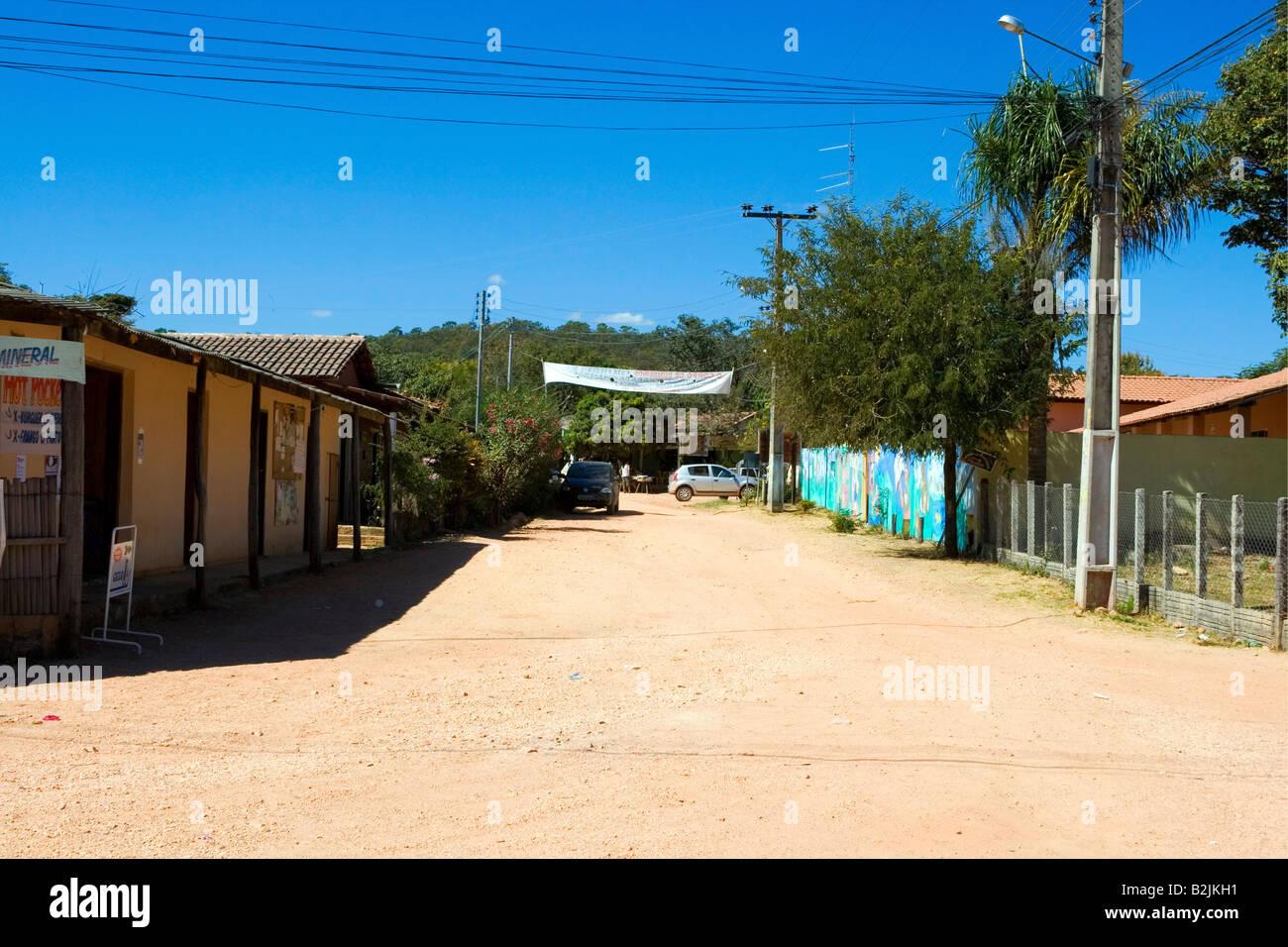 Povoado de São Jorge, Street Scene, Chapada dos Veadeiros, Goiás, Brazil, South America Stock Photo
