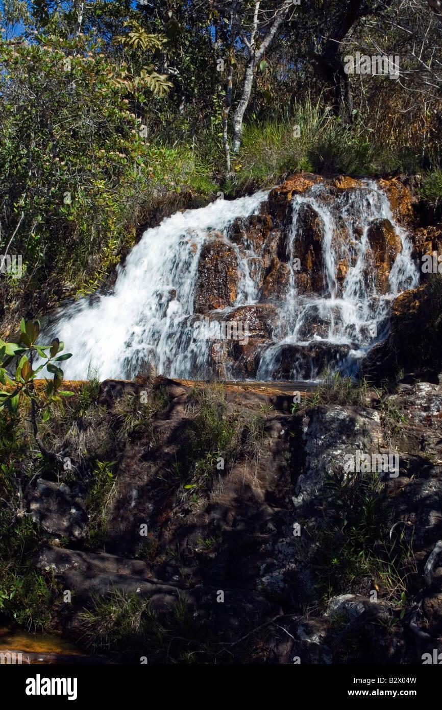 Cachoeiras, Rio Cristal, Chapada dos Veadeiros, Veadeiros Tableland, Goias, Brazil Stock Photo