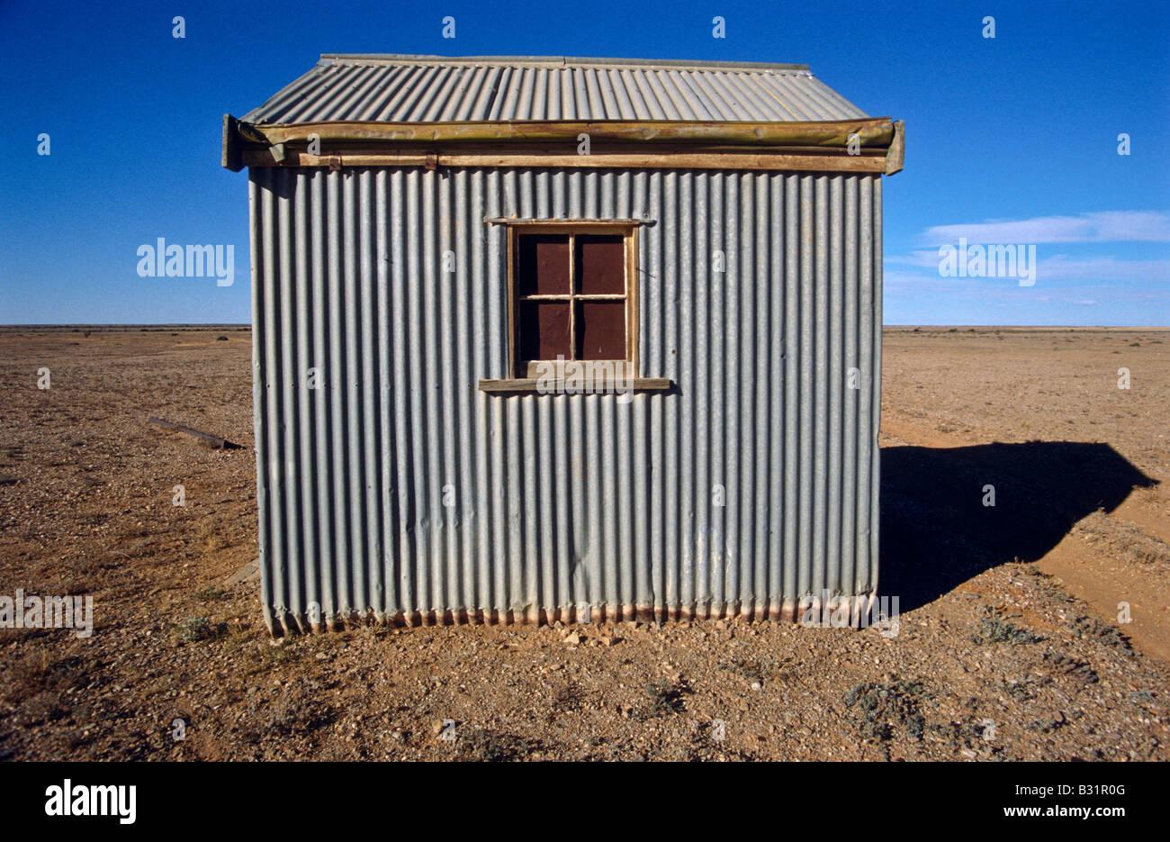 Corrugated iron tin hut Stock Foto