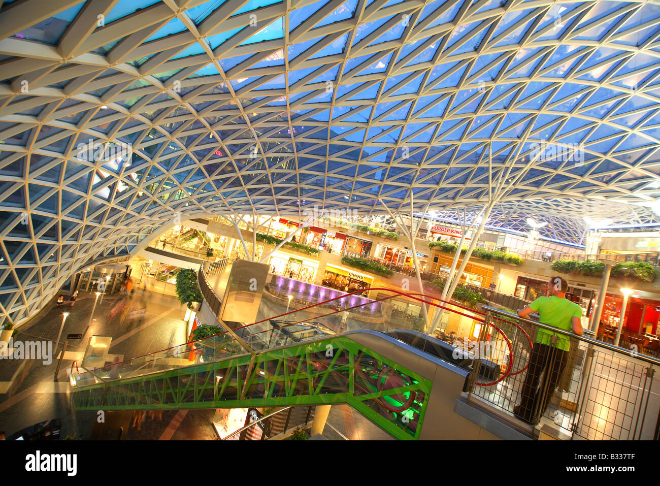 Warsaw Warszawa Poland Shopping Mall Golden Terraces Zlote Tarasy Stock Photo Royalty Free
