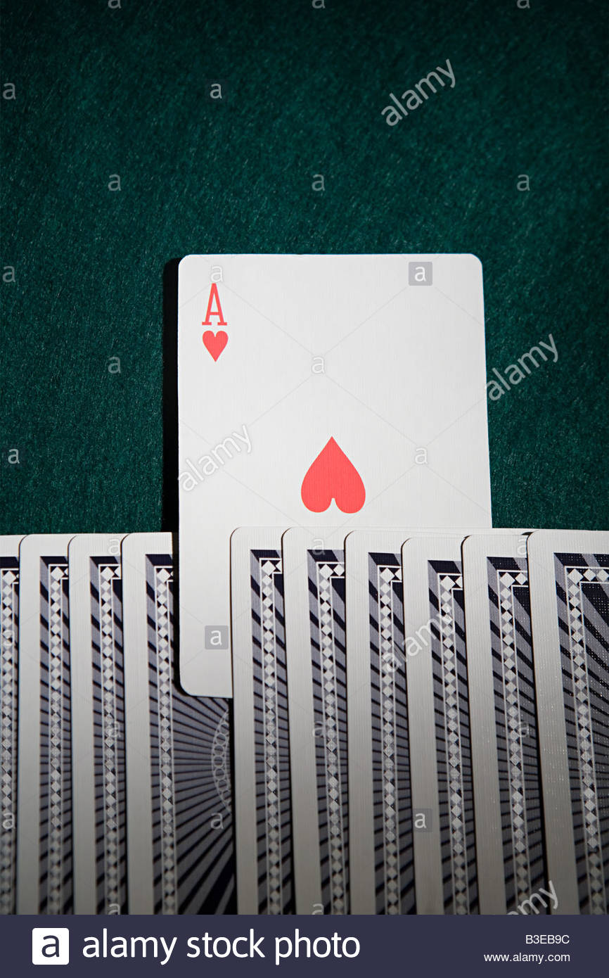 Ace in a pack of cards Stock Foto