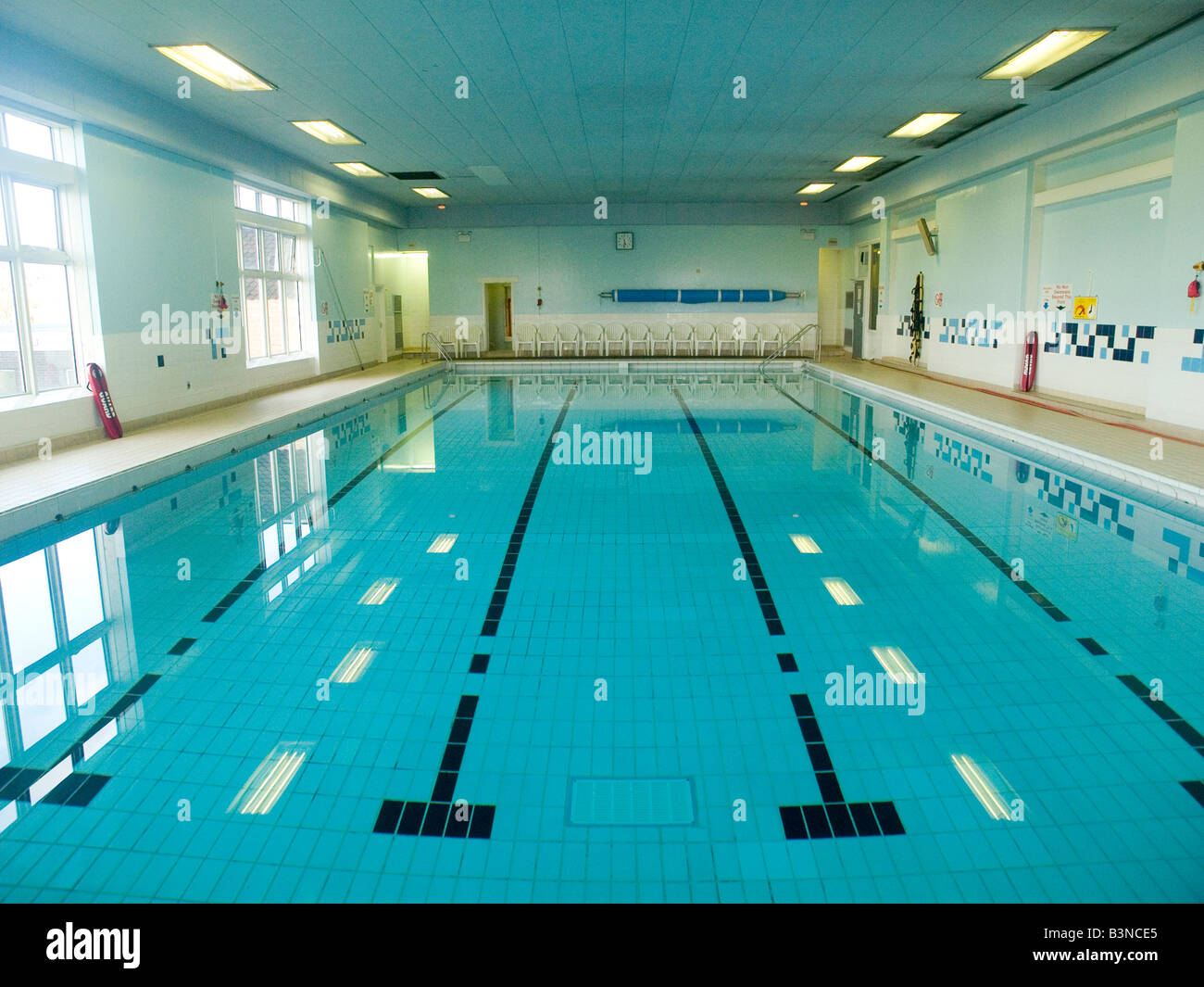 A Public Swimming Pool At A Local Council Run Leisure Centre Stock Photo Royalty Free Image