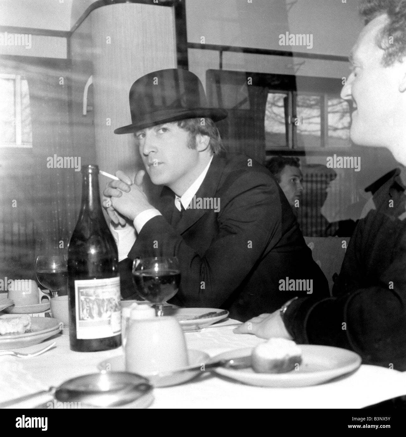 The Beatles March 1964 John Lennon Wearing A Bowler Hat