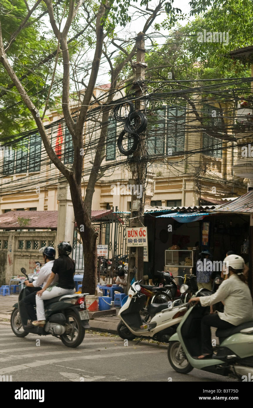 A busy street in Hanoi, Vietnam Stock Photo, Royalty Free ...