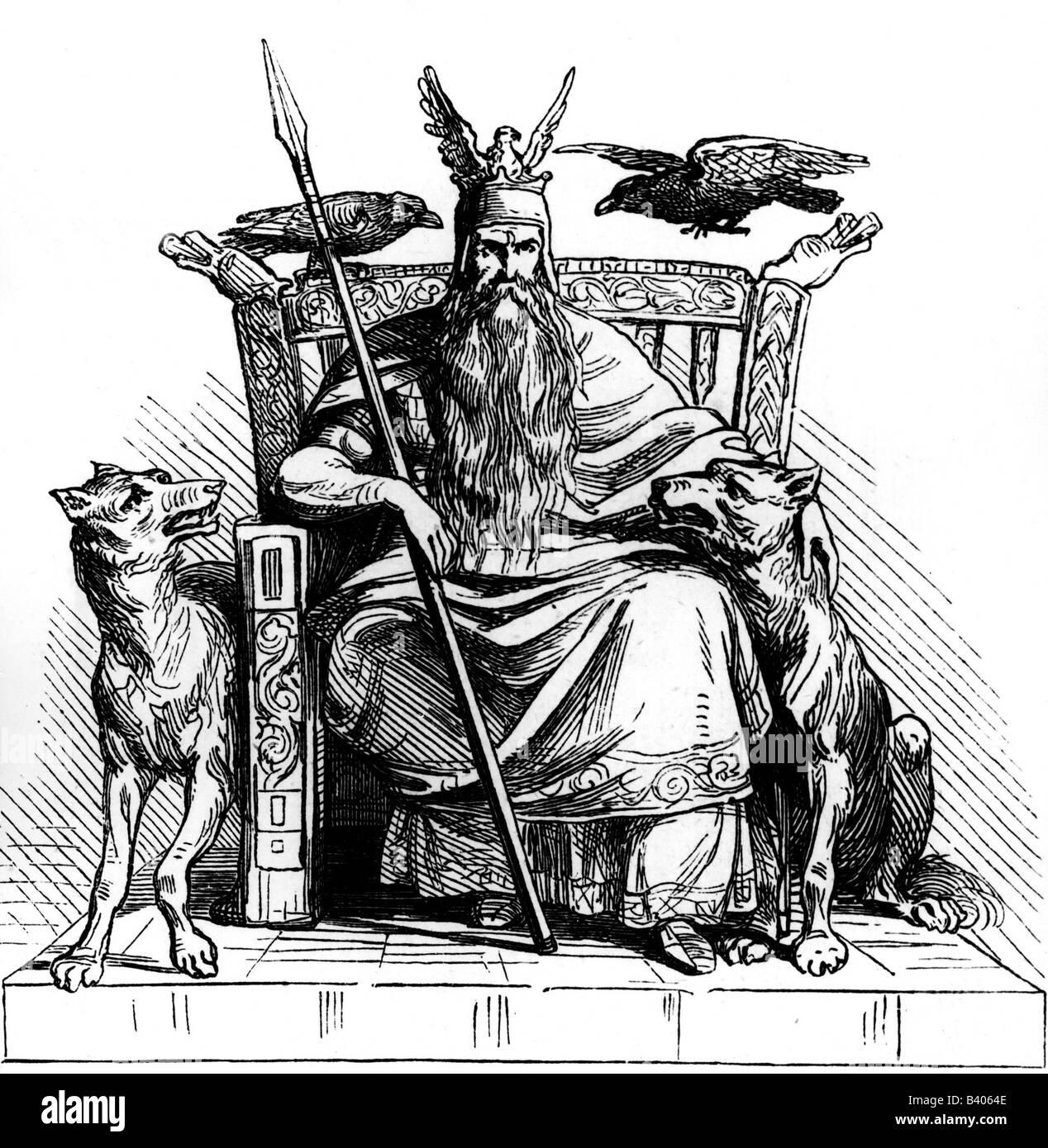 Odin Wotan Highest God In Norse Mythology God Of