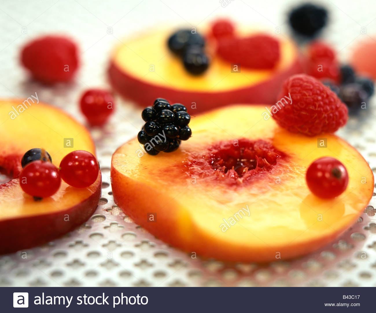 composition with summer fruit Stock Foto