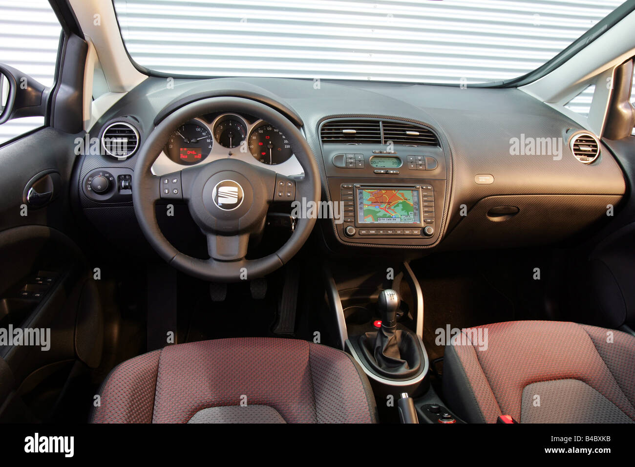 car seat altea black van model year 2004 interior view stock photo royalty free image. Black Bedroom Furniture Sets. Home Design Ideas