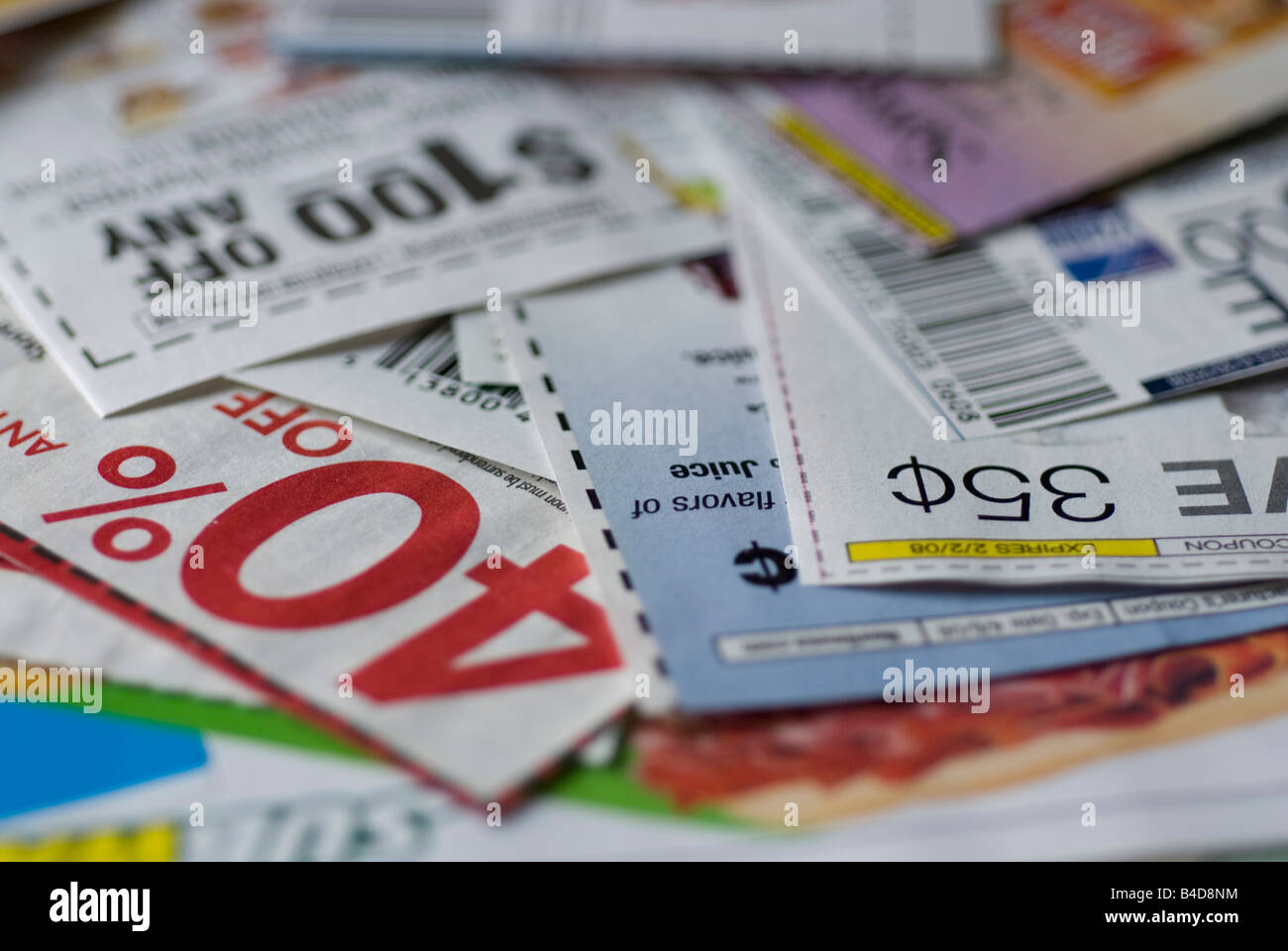 close up of grocery store coupons clipped from the sunday newspaper stock photo royalty free. Black Bedroom Furniture Sets. Home Design Ideas