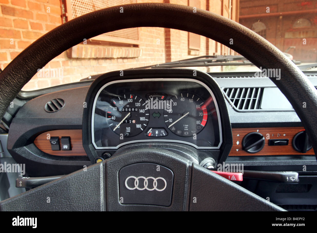 car audi 50 model year 1974 1978 silver old car 1970s stock photo royalty free image. Black Bedroom Furniture Sets. Home Design Ideas