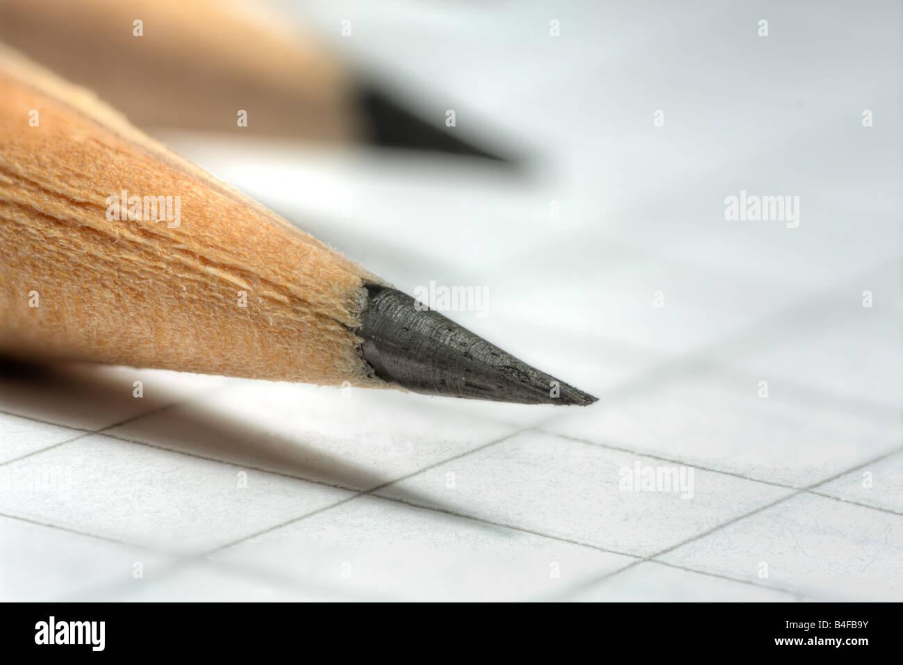 Pencil tip Stock Photo
