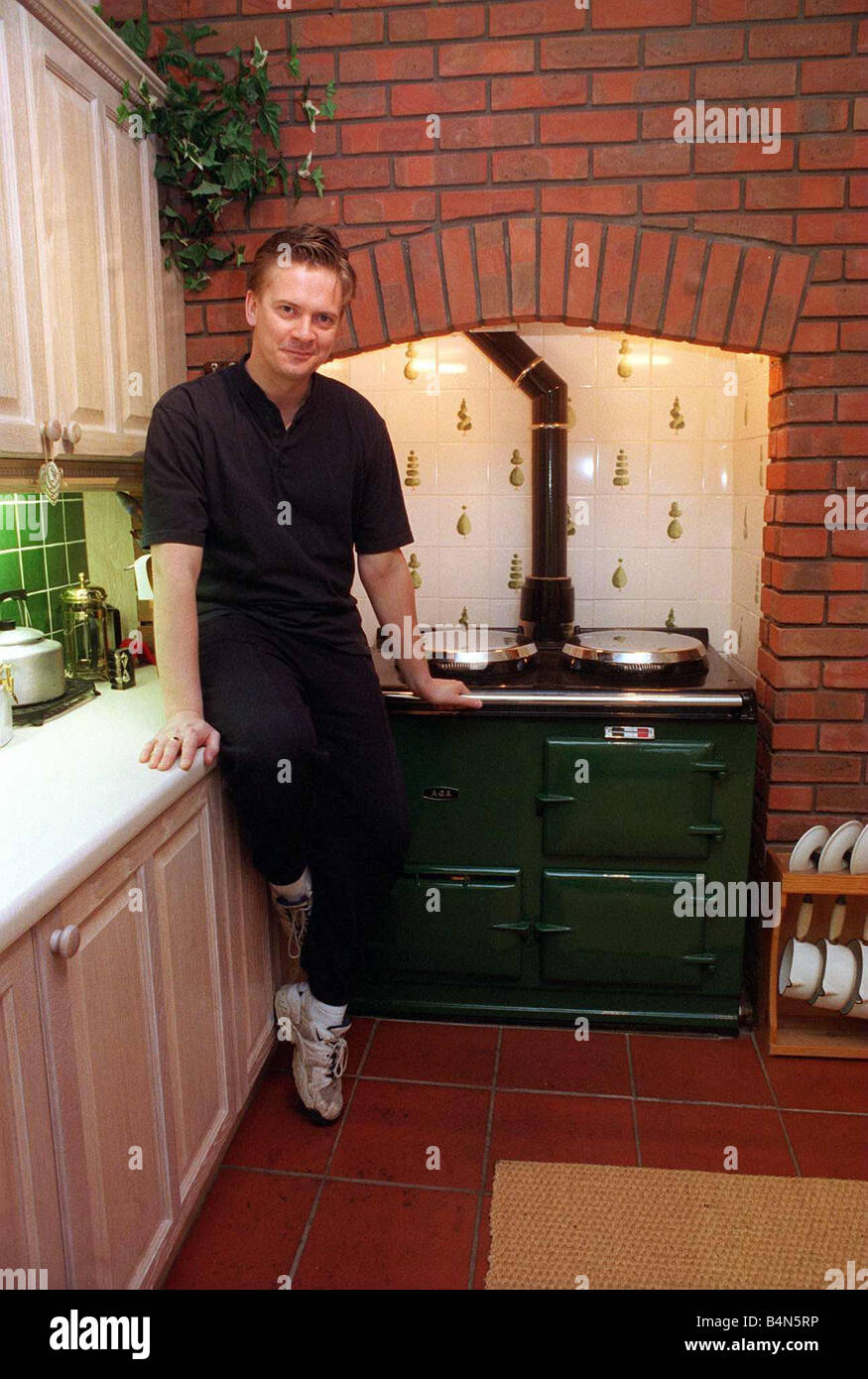 James Macpherson Actor In Taggart In His Kitchen With Old