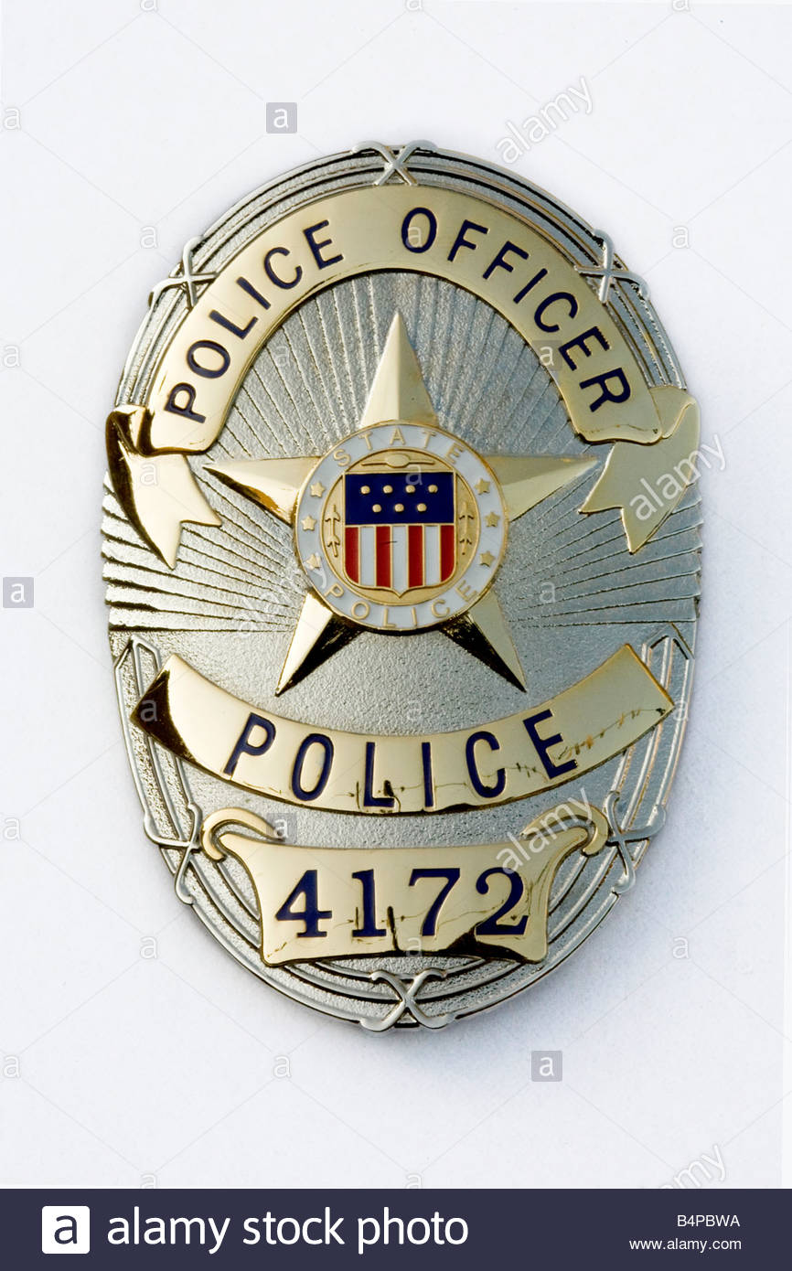 an american police officer badge Stock Photo, Royalty Free ...