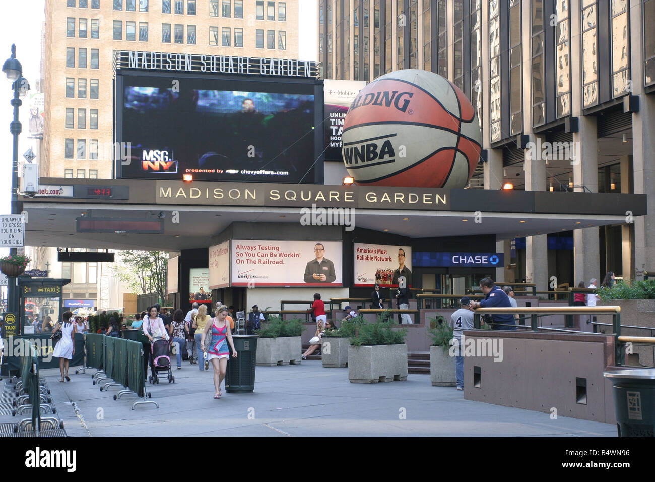 Madison Square Garden Main Entrance On 7th Ave Stock Photo Royalty Free Image 20234514 Alamy