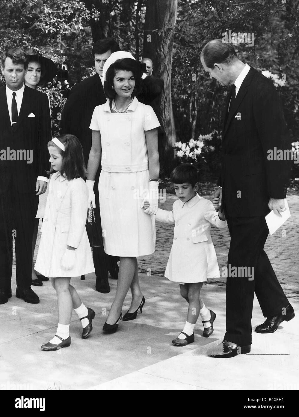 Jackie Kennedy With Children John And Caroline Talks With Prince Stock Photo Royalty Free Image