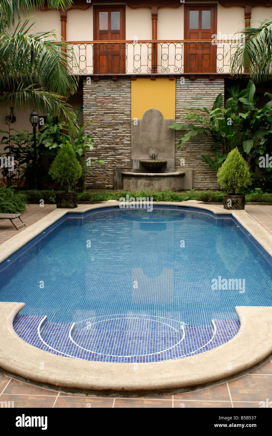 Swimming Pool In The Hotel Colonial In The Spanish Colonial City Of Stock Photo Royalty Free