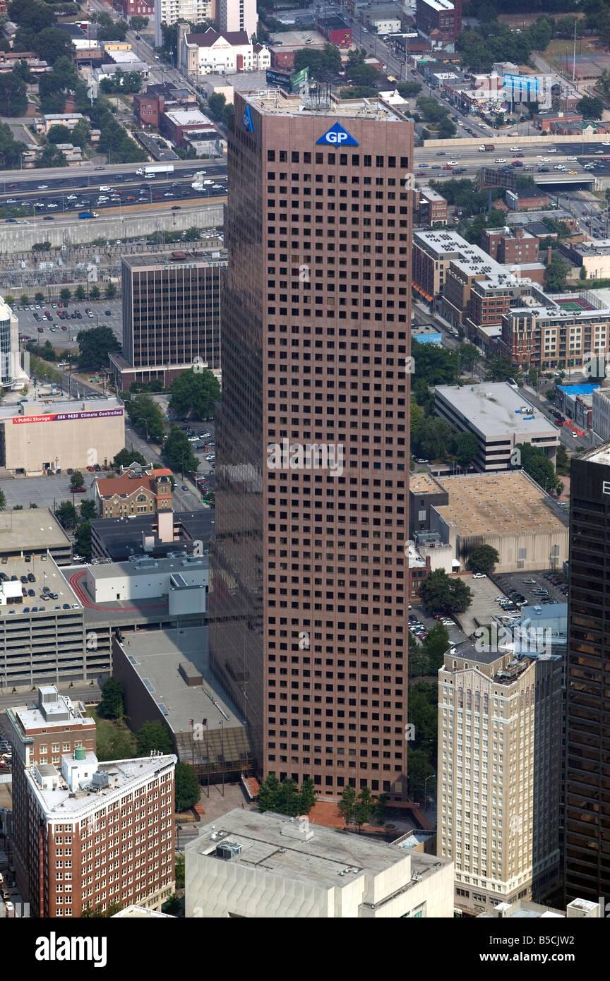 aerial view above Georgia Pacific Tower Atlanta Georgia Stock Photo