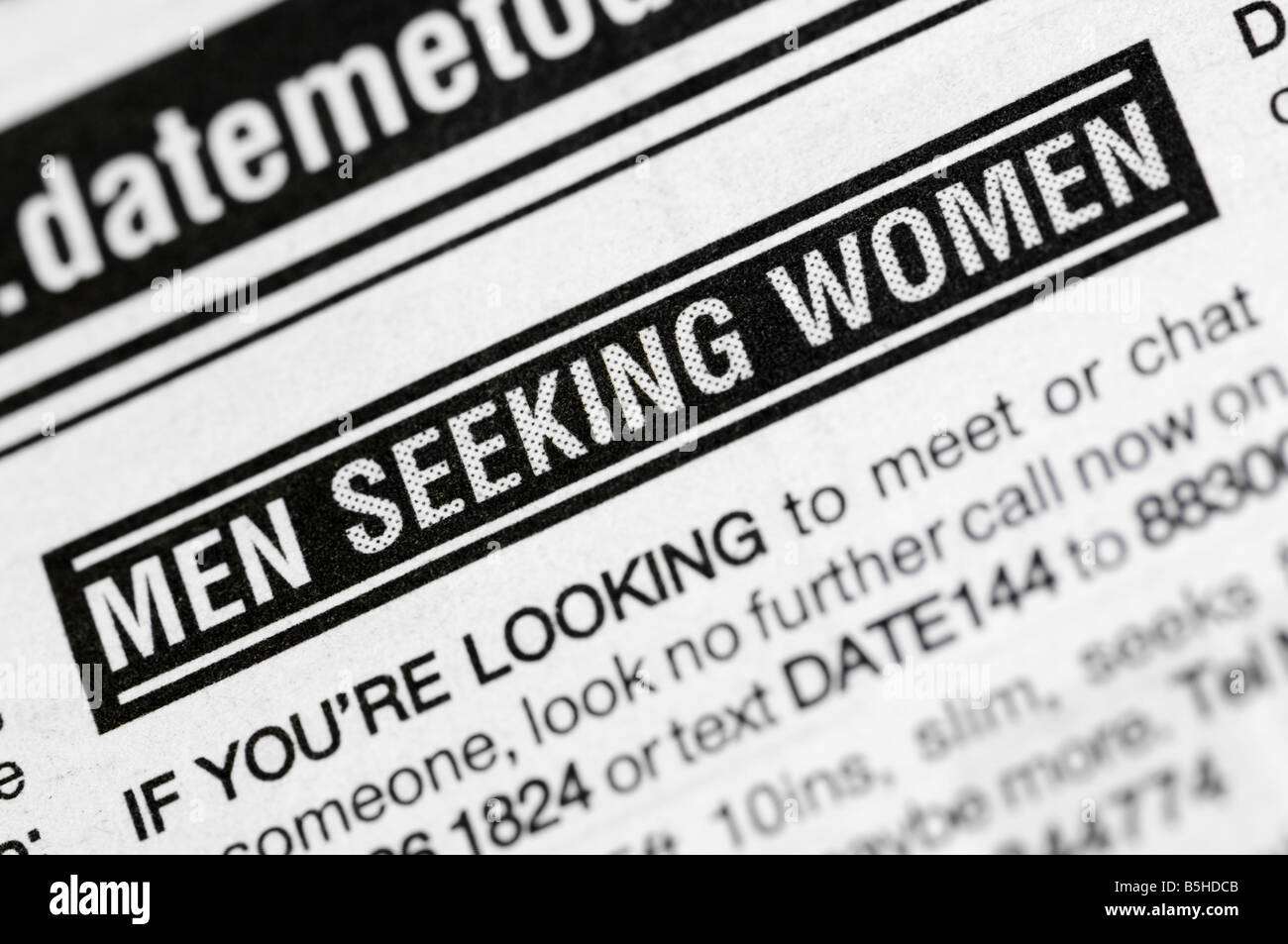 Classified men seeking women