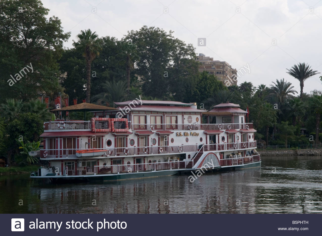 Floating Boat Restaurant In Garden City District Cairo Egypt Stock Photo Royalty Free Image