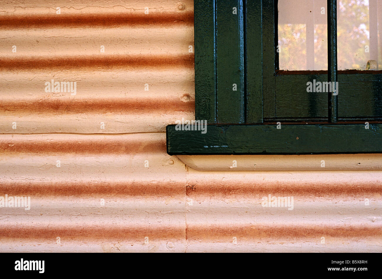 Corrugated iron, Australia Stock Foto